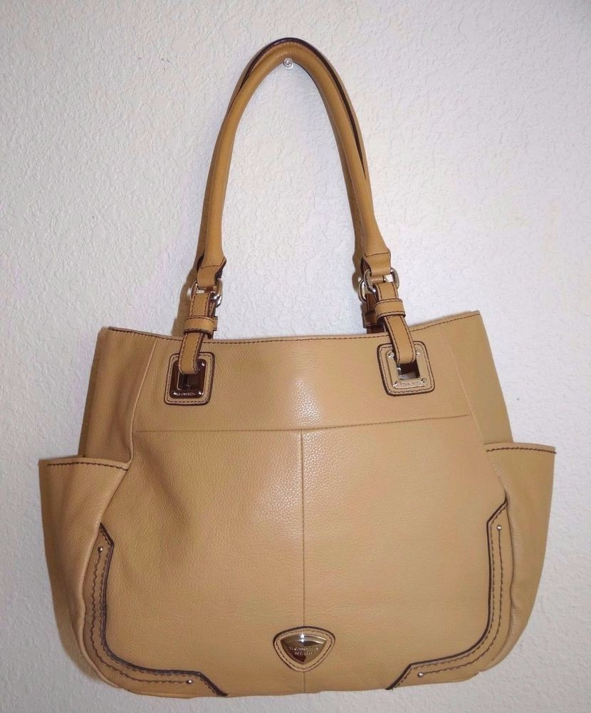 Tignanello Genuine Leather Pretty In Pebble Honey Shopper/Handbag/Purse  SALE #Tignanello #TotesShoppers