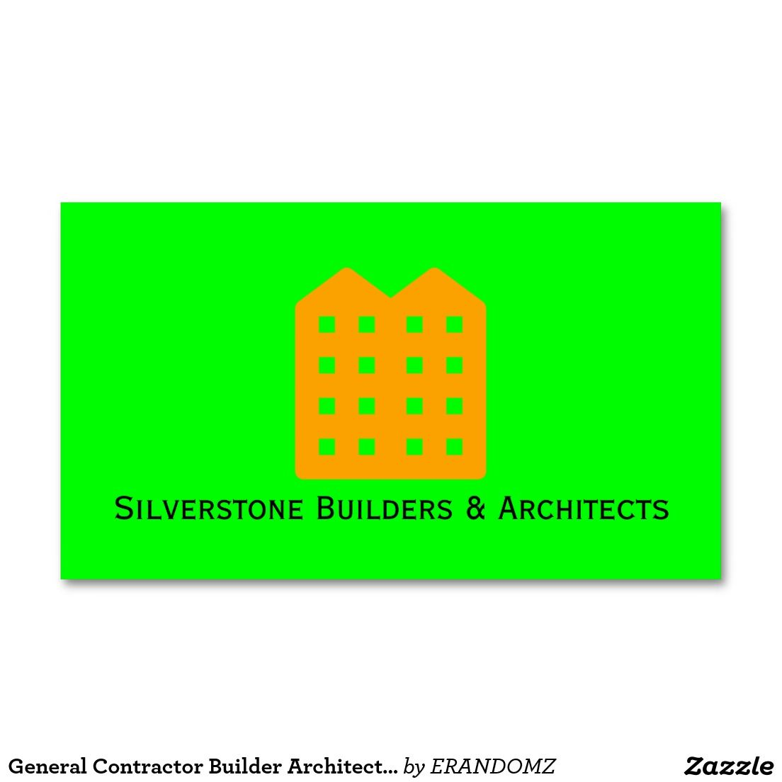 General Contractor Builder Architects Construction Standard Business ...