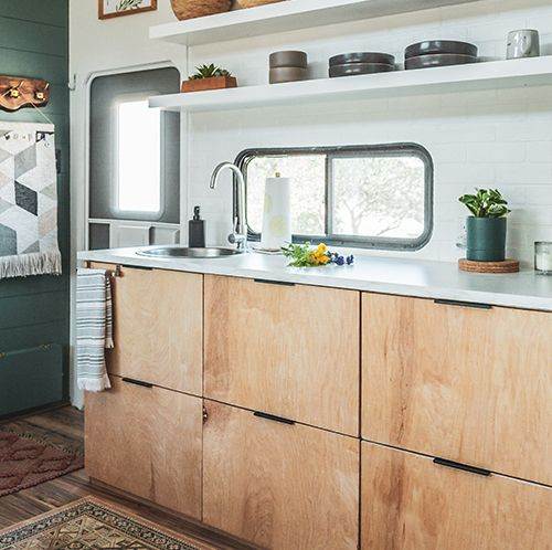 The muted earth tones in this eclectic camper will have you dreaming of the desert | Mountain Modern Life
