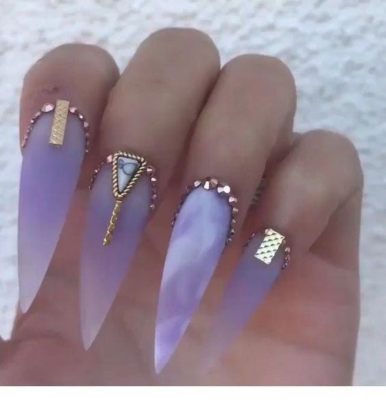 Storm Nails With Images Pretty Acrylic Nails Stiletto Nails Designs Gorgeous Nails