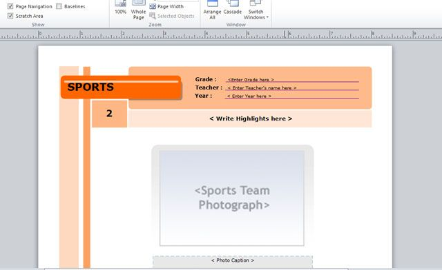 Yearbook Template For Microsoft Publisher Powerpoint Presentation