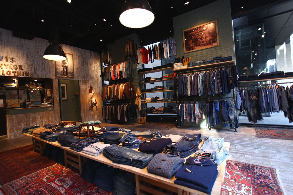 Levi S Vintage Clothing Tokyo Levis Vintage Clothing Vintage Outfits Clothing Store Displays