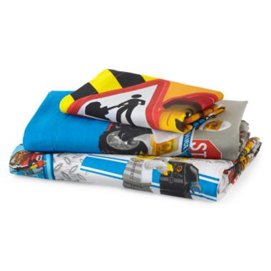 LEGO® City Twin Sheet Set found at @JCPenney   Samuel's Room ...