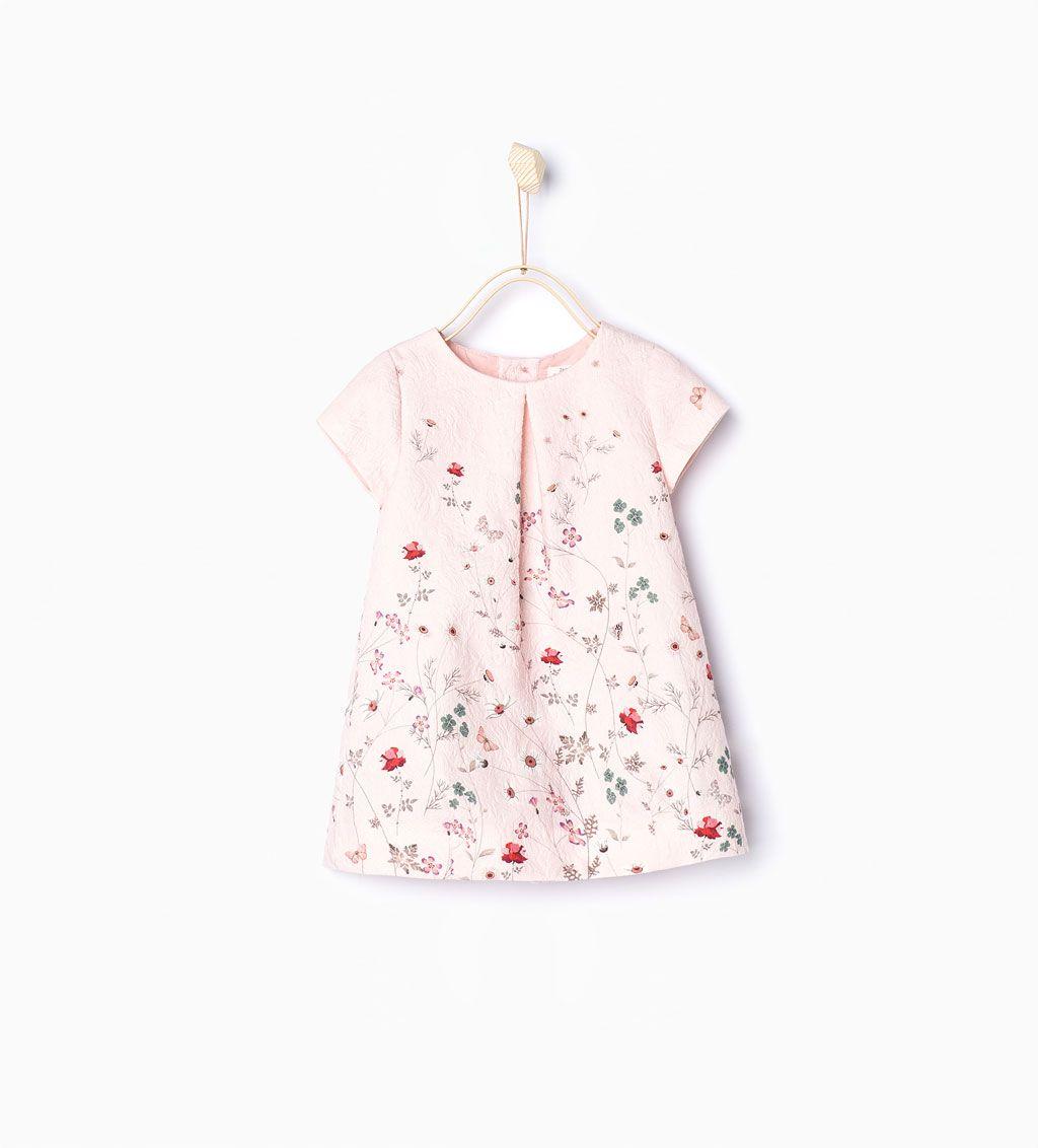 Vestido jacquard ramas-Vestidos y Monos-Bebé niña  f18bbe0143b9