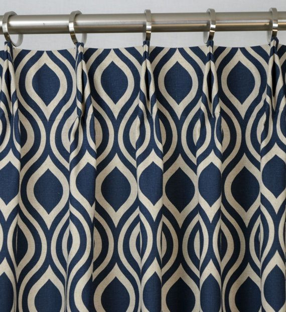 beige and blue shower curtain. Pair Of Pinch Pleat Top Curtains In Nicole Indigo Laken Navy Blue Natural  Light Beige Fabric Via Etsy I Love This Fabric But Too Busy For Living Room CORTINAJE ESTAMPADO IDEALES PARA COMPLEMENTAR LA DECARACI N DEL