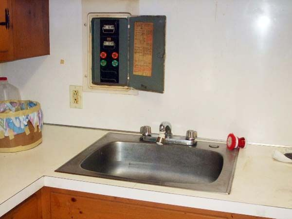 home inspection nightmares xxviii buying a home home inspection live fuse box located next to a working kitchen sink home inspection nightmares
