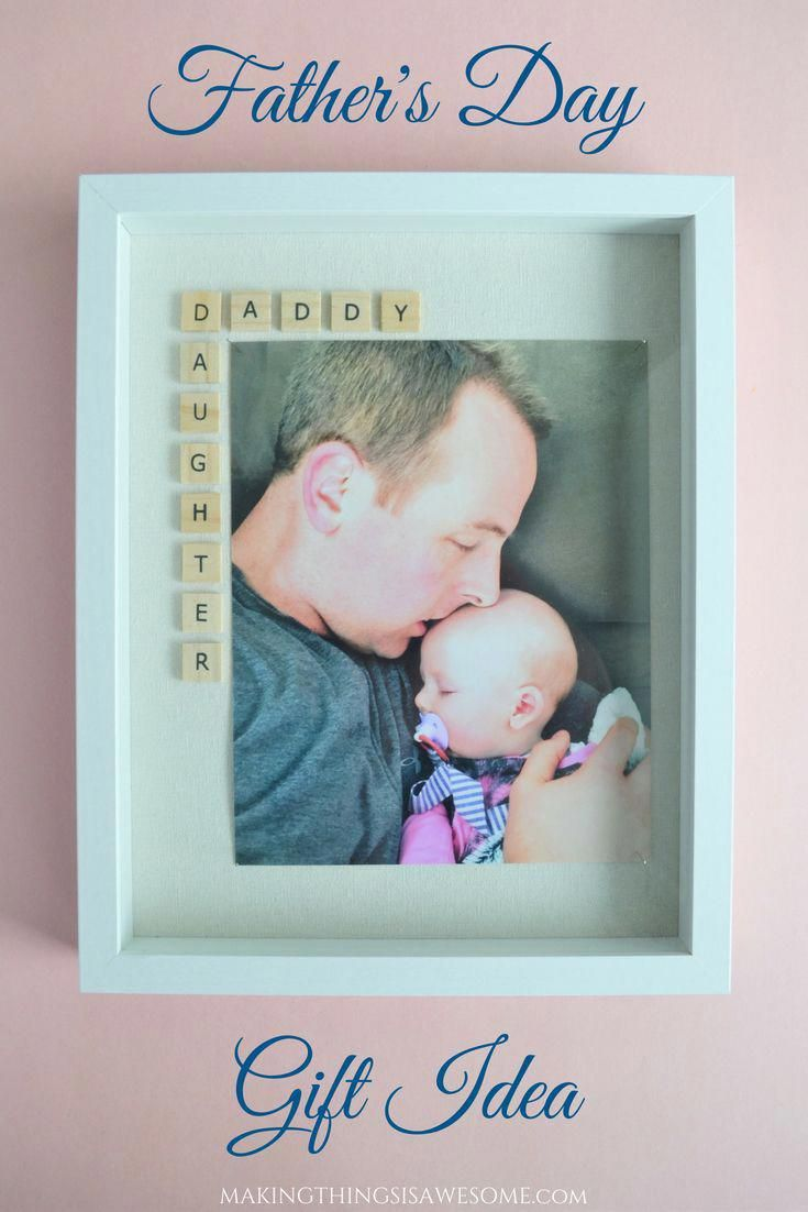 Fathers day gift idea daddy daughter frame tutorial