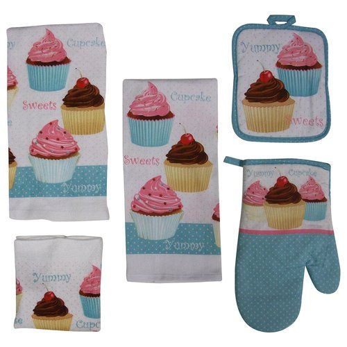 Kitchen Accessories Walmart: Mainstays 7-Piece Kitchen Set, Cupcake*** Just Bought At