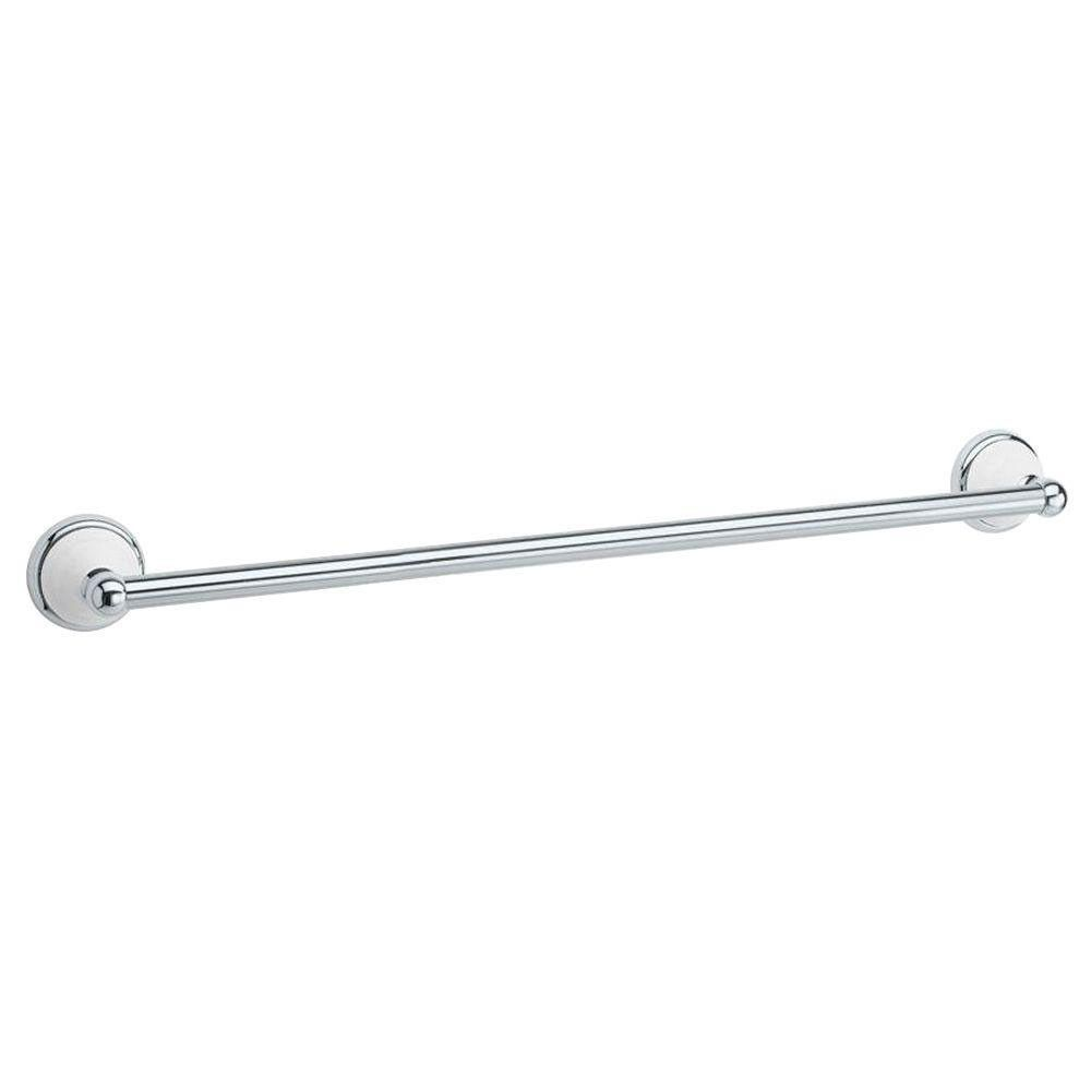 Gatco Franciscan 18 Inch Towel Bar In Polished Chrome And Porcelain