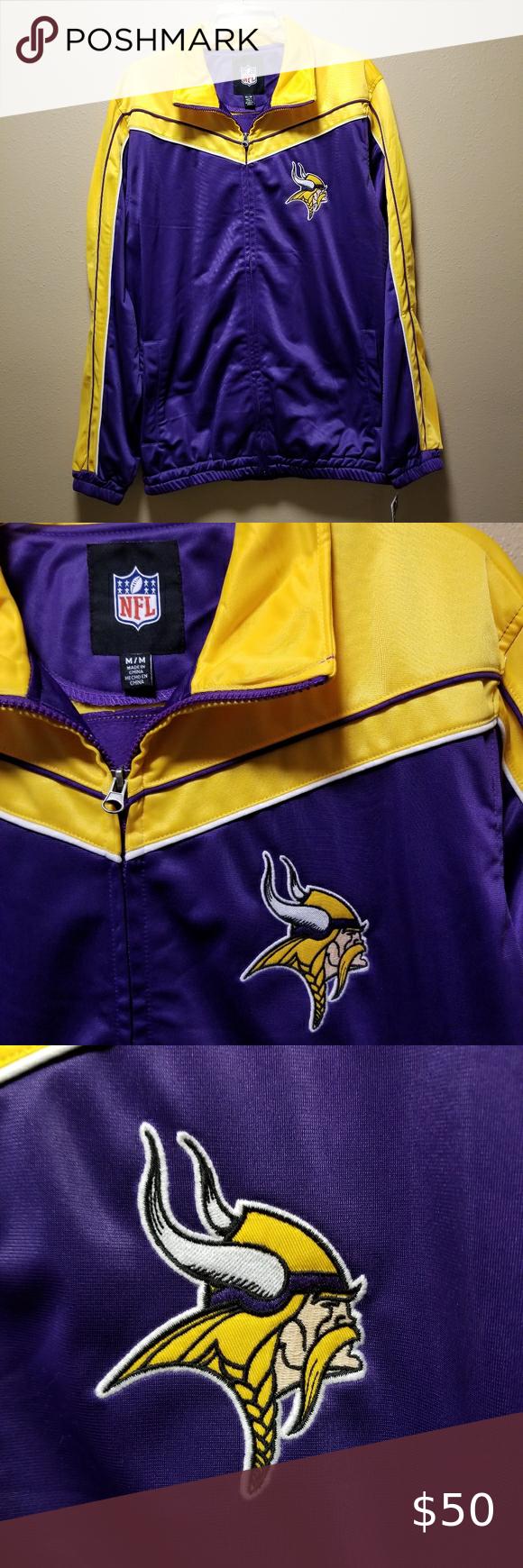 Men S Minnesota Vikings Track Jacket Nwt Track Jackets Clothing Brand Dallas Cowboys Leather Jacket [ 1740 x 580 Pixel ]
