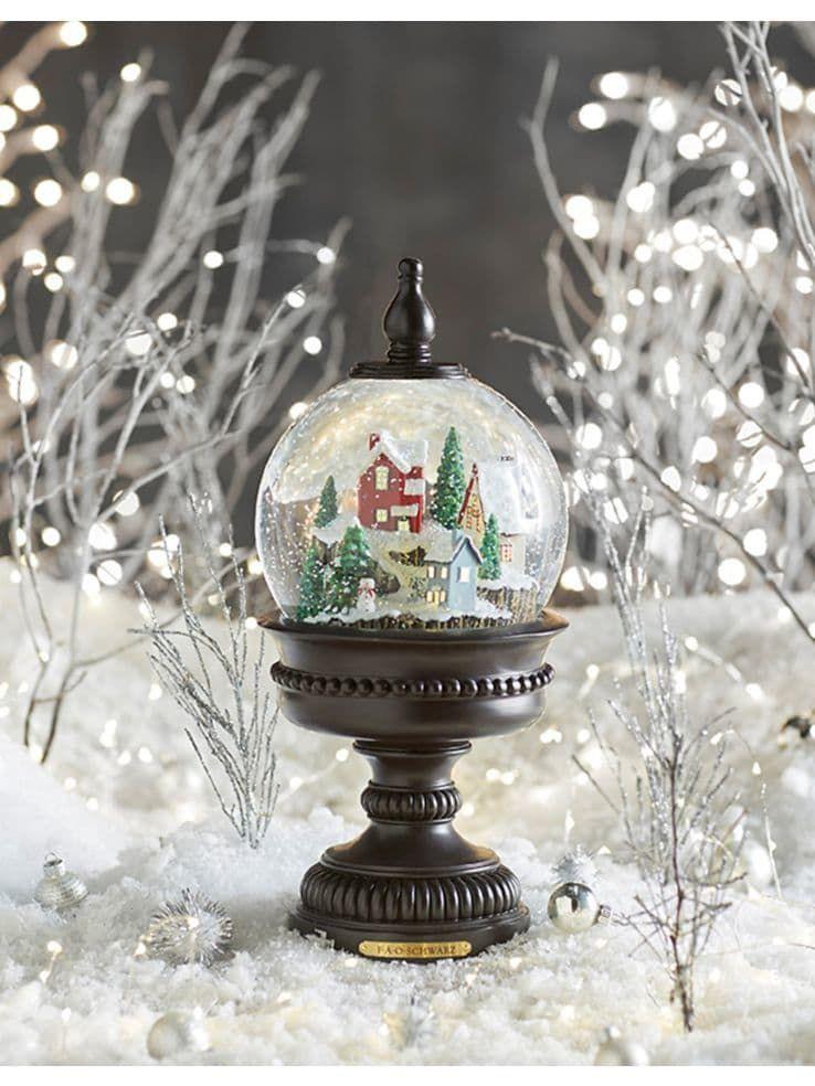 Led snow globe pedestal snow globes christmas bulbs