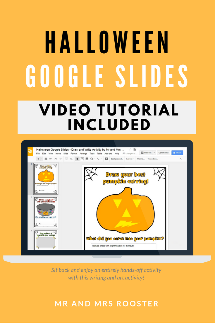 Halloween Google Slides Draw and Write Activity with