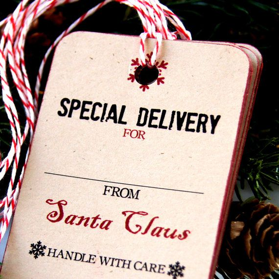Christmas Gift Tags  SPECIAL DELIVERY from Santa Claus Christmas