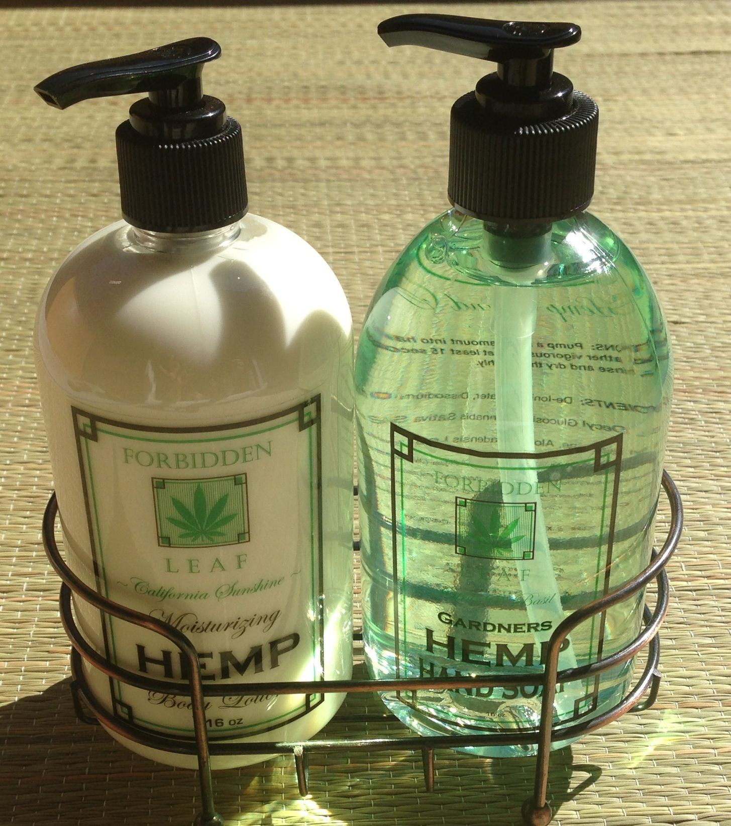 Forbidden Leaf Citrus/Basil Hemp Hand Wash & Hemp Lotion