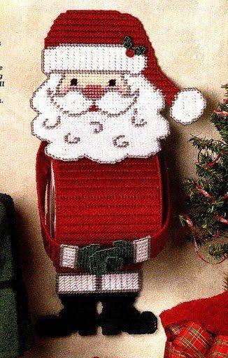 Santa Toilet Roll Holder 1 3 Plastic Canvas Ornaments