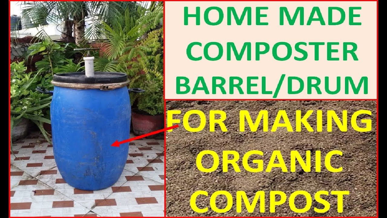 Home made composting barrelmachine for making compost