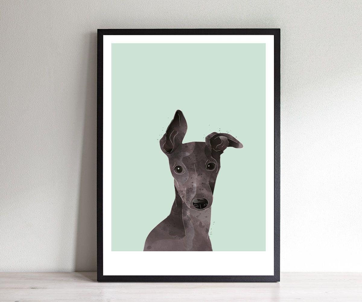Italian Greyhound Print Italian Greyhound Wall Art Etsy Italian Greyhound Greyhound Art Etsy Wall Art