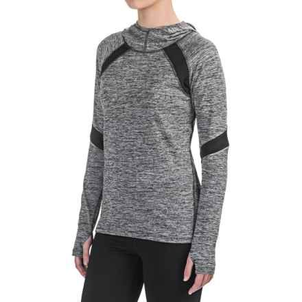 RBX Studio Space-Dyed Hooded Shirt - Long Sleeve (For Women) in Black - Closeouts