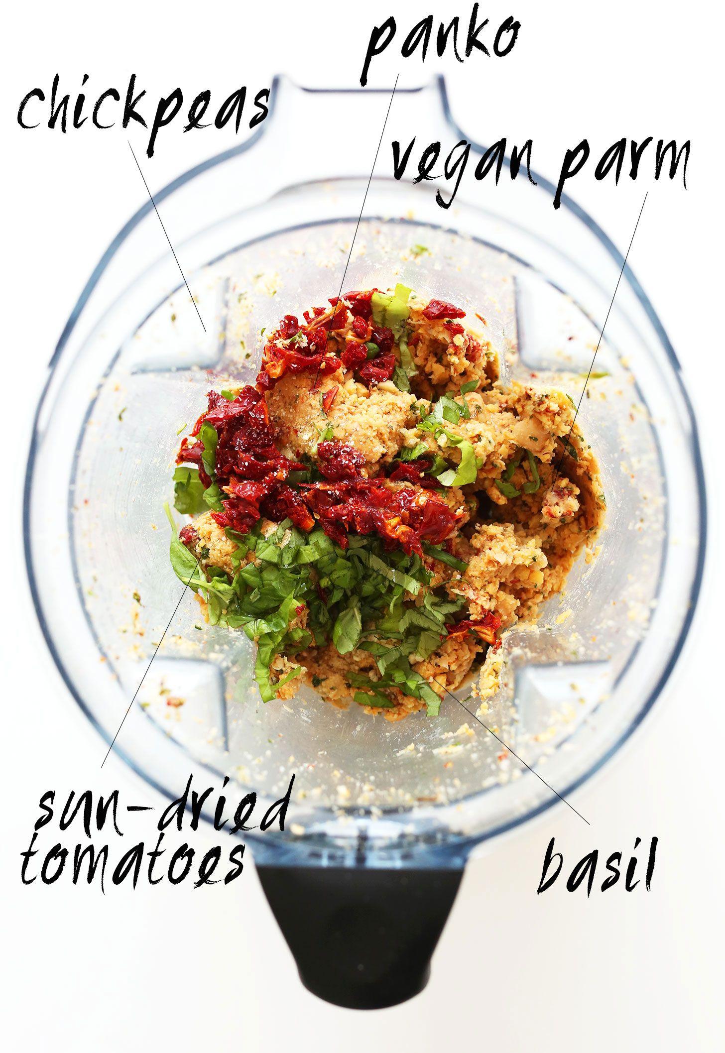 Vegan Sun Dried Tomato Basil Meatballs