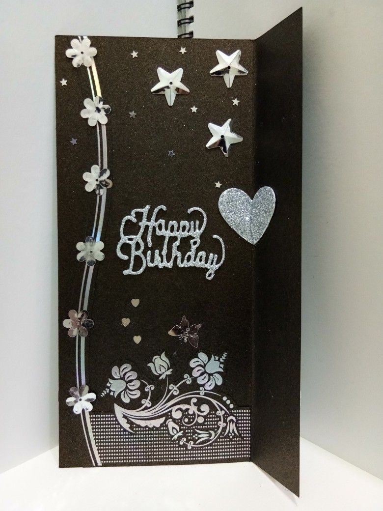 Recycled Card Birthday card for dad. She liked this