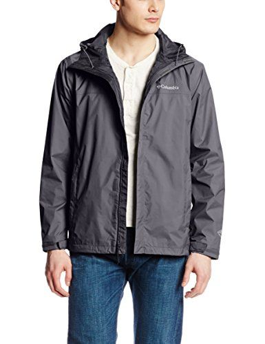 columbia men's watertight ii packable rain jacket black medium