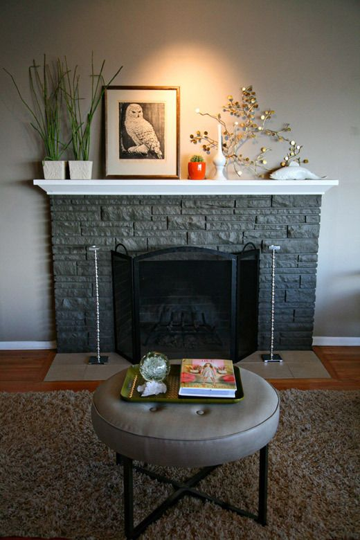 Heather S Comfortably Glamorous Family Home Home Fireplace