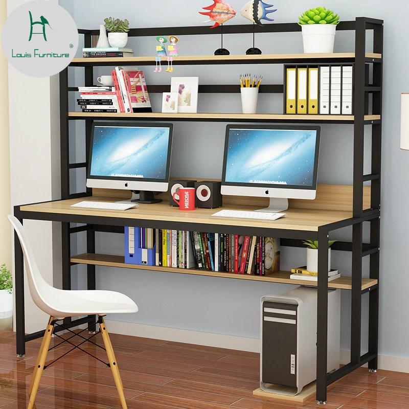 Louis Fashion Computer Desks Home Minimalist Bookshelf And Bookcase In Computer Desks From Furniture On Aliexp Home Simple Computer Desk Minimalist Bookshelves