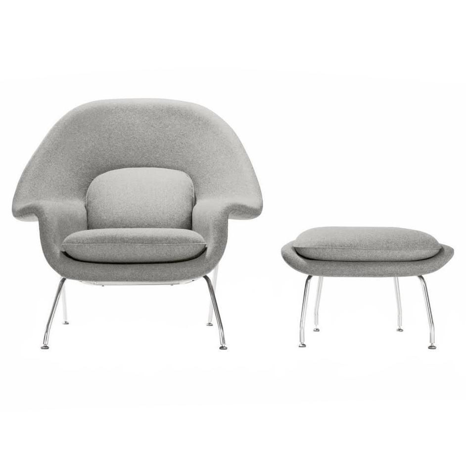 2020 的 Mid Century Womb Chair And Ottoman Grey 主题