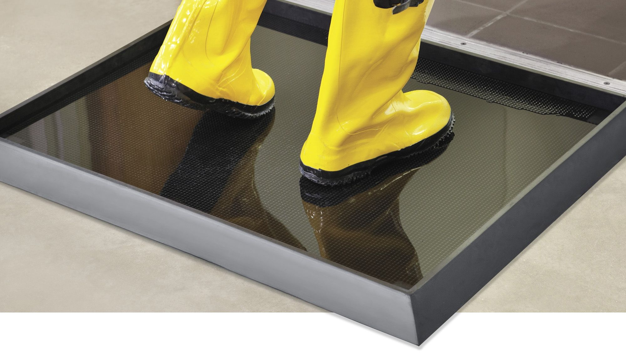Sanitizing Footbath Mats in Stock Uline Sanitizer, Mats