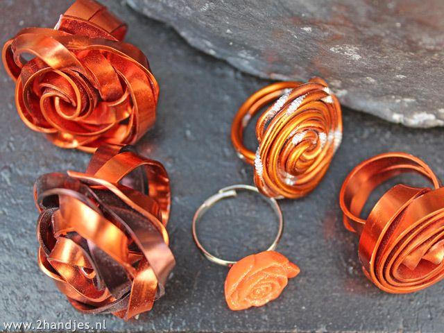 #ringen van aluminiumdraad #diy