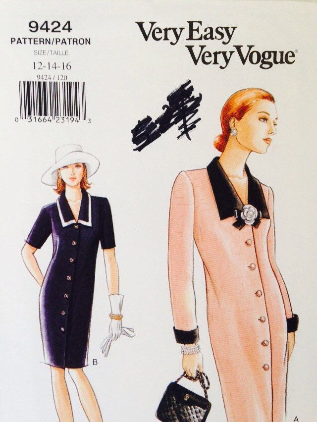 Uncut, Sizes 12 14 16, Vogue Very Easy Patterns Business or Casual ...