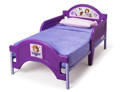 Toddler Bed Frame Sofia The First Girls Kids Child Bedroom Furniture Disney  #Disney