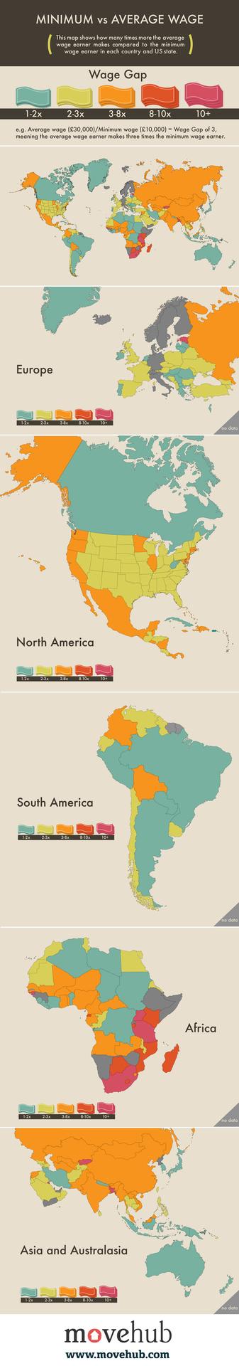 Minimum V Average Global Wage Gap Map On The Web World Geography Dissertation Wmu