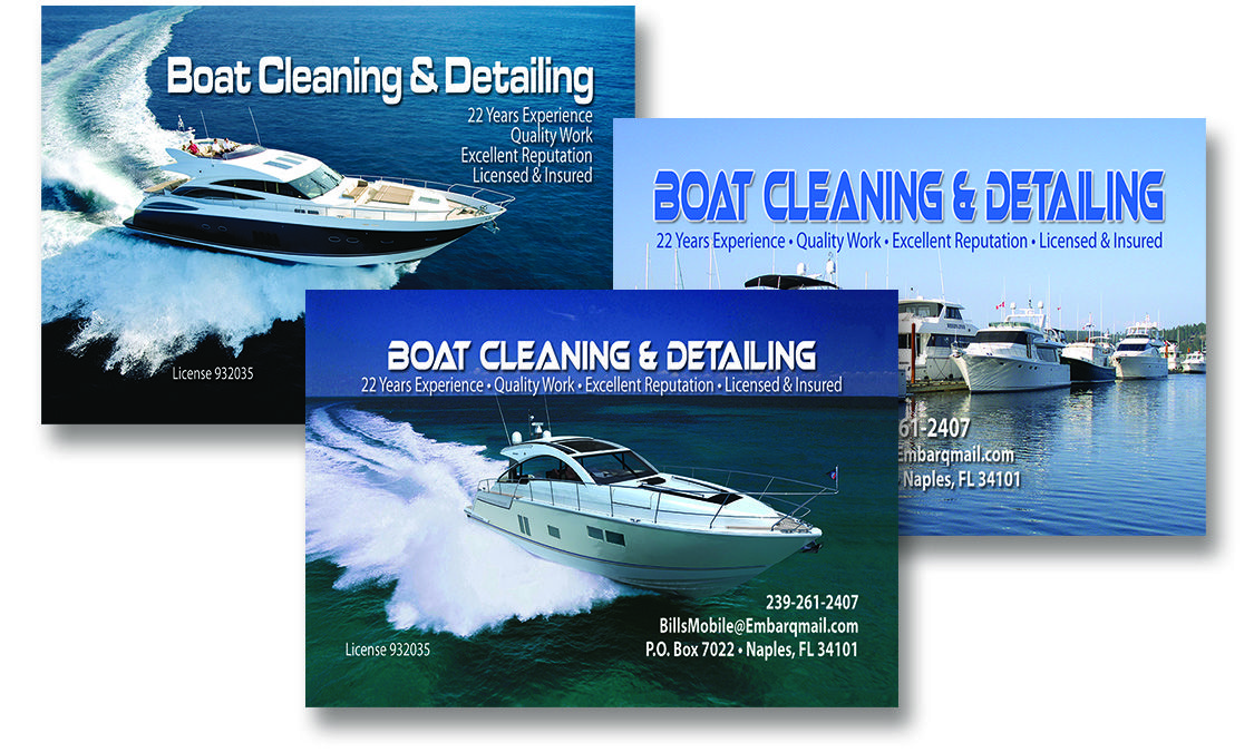 Boat Cleaning Detailing Boats Business Cards Visit Carte De