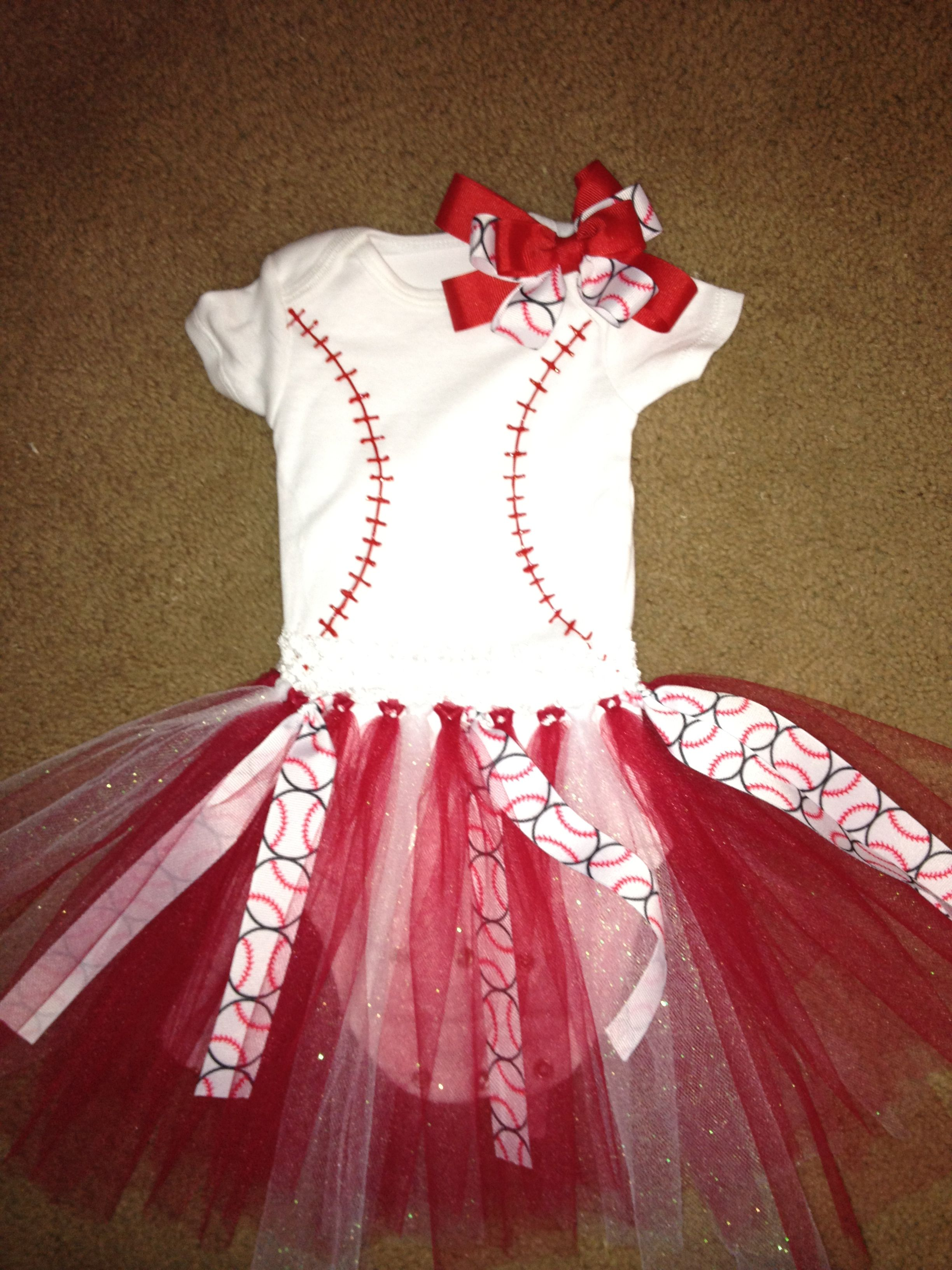 Baby girl's baseball outfit! This afternoon's craft ...