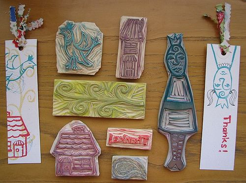 Stamped Bookmarks