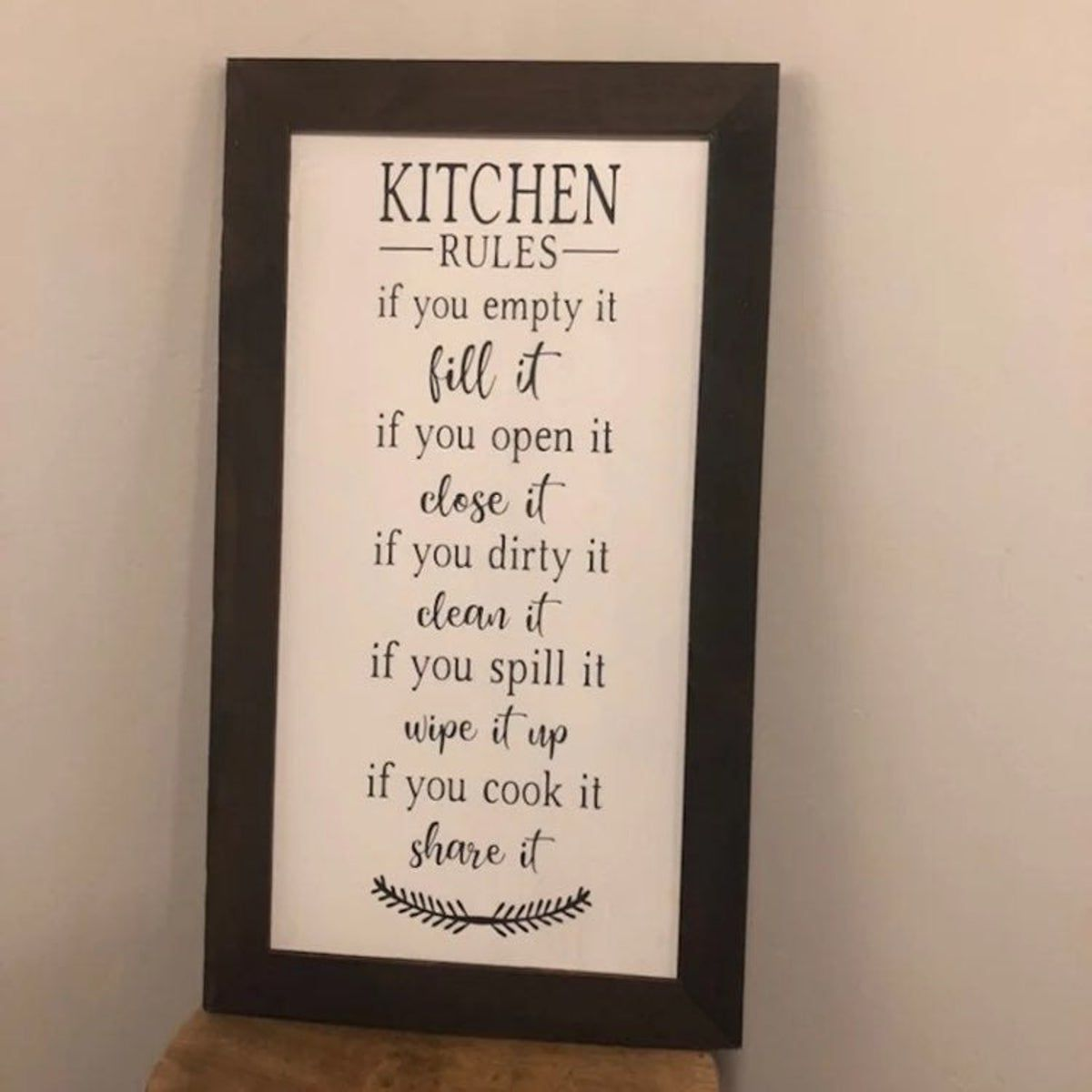 Kitchen Rules Farmhouse Wood Sign #kitchenrules Kitchen Rules Farmhouse Wood Sign #kitchenrules