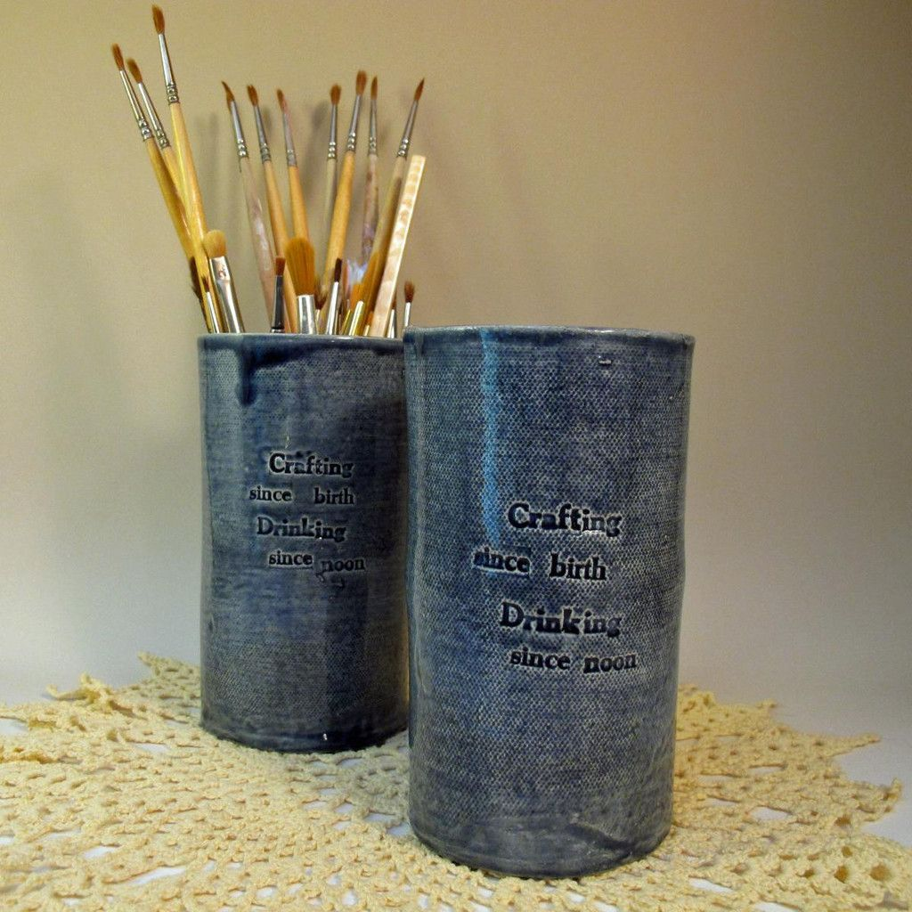 """""""Crafting Since Birth"""" craft tool container"""