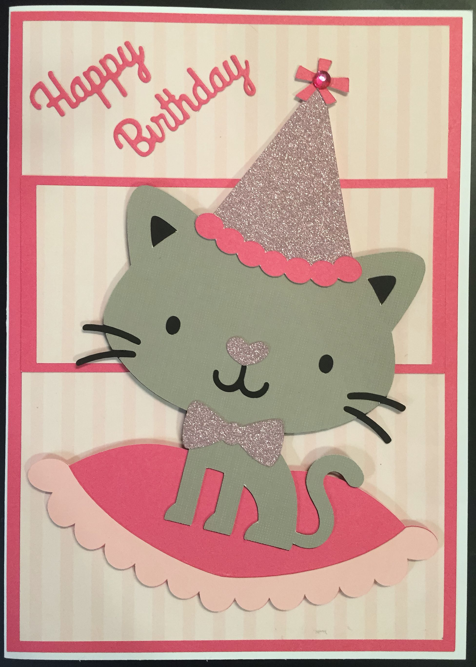 Homemade kids birthday card cricut create a critter cards homemade kids birthday card cricut create a critter bookmarktalkfo Image collections