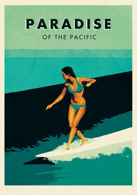 Nz Surfing Posters On Behance Surf Poster Retro Poster Surf Art