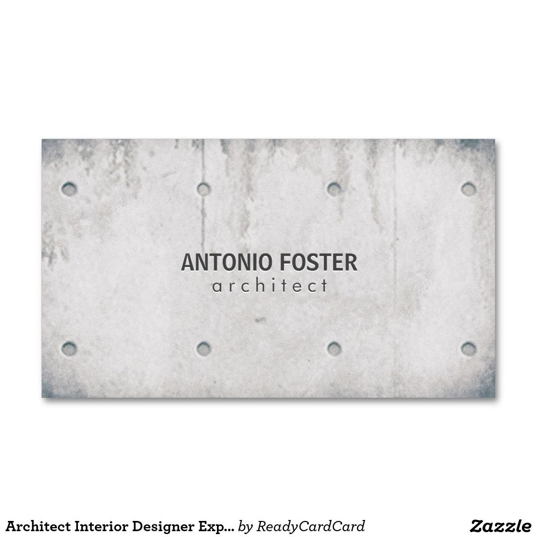 Architect Interior Designer Exposed Concrete Wall Business Card