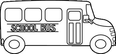 School Bus Black and White Clip Art - School Bus Black and White Vector  Image | School bus, School bus clipart, School clipart