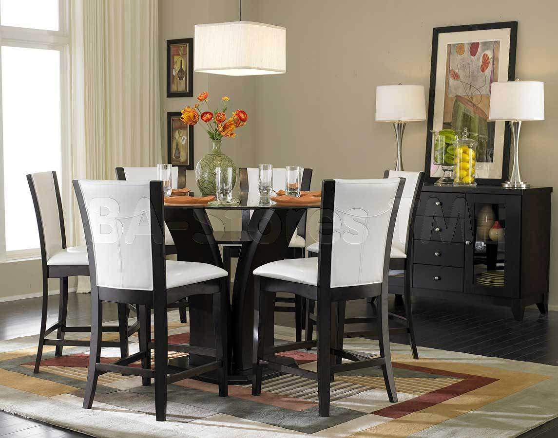 Daisy 7 PC Round Counter Height Set Table And 6 Chairs Dining Room
