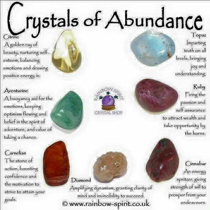 Crystals of abundance