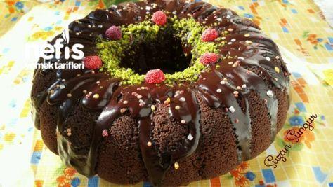 Browni Tadında Çaylı Kek