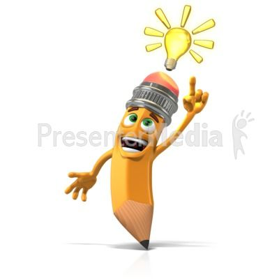 This Clipart Shows Scribbles The Pencil Having A Bright Idea Powerpoint Clipart Illustrations Clip Art Scribble Character