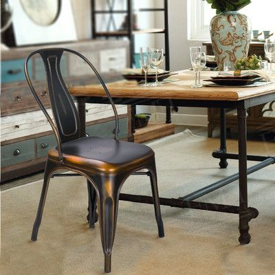 AdecoTrading Vintage Stacking Dining Chair Reviews Wayfair The - Wayfair high top table