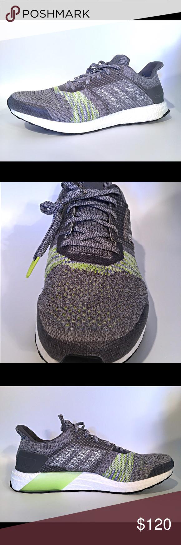 f2e952b11 Men s Adidas UltraBOOST ST Size 13 Running -Grey- Men s Adidas UltraBOOST ST  Size 13 Running Shoes Grey Solar Slime (CQ2147) New with Original Box  Retail  ...