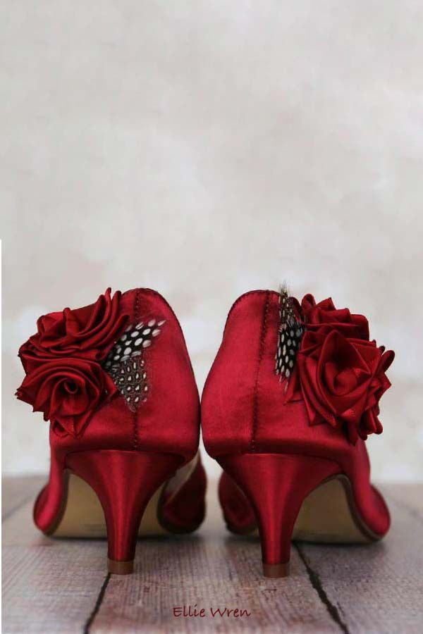 fe702061a08 Red Bridal Shoes. Bridal Gown. Looking for something truly unique  How  about designing your own wedding shoes  Start by