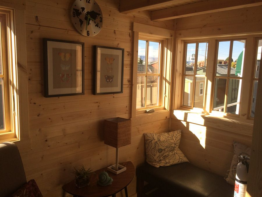 a long cypress model tiny house from the tumbleweed tiny house company